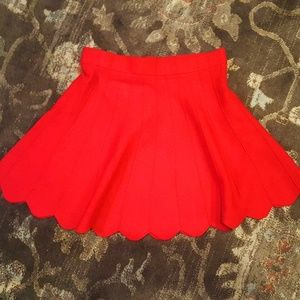 Candie's red sweater skirt